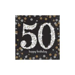 Serwetki urodzinowe 50 lat 511546