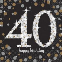 Serwetki urodzinowe 40 lat