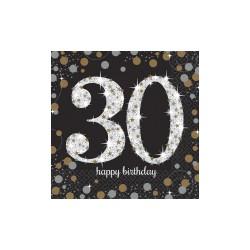 Serwetki urodzinowe 30 lat 511544