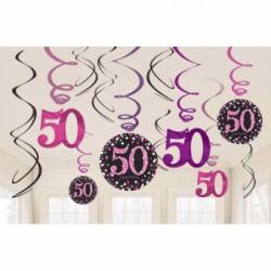 Dekoracjne sprężynki 50 urodziny 9900613