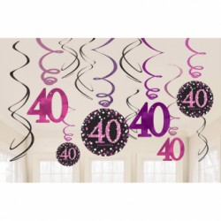 Dekoracyne sprężynki 40 urodziny 9900605