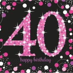 Serwetki 40 urodziny 9900603