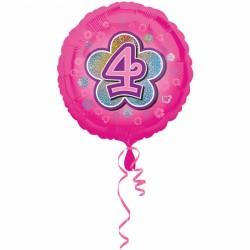 Balon foliowy 4 urodziny 2954601