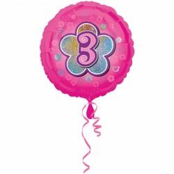 Balon foliowy 3 urodziny 2954501