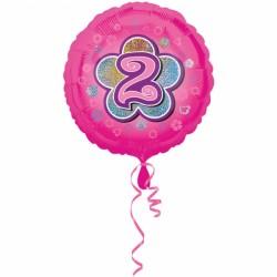 Balon foliowy 2 urodziny 2954401