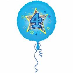 Balon foliowy 4 urodziny 2953501