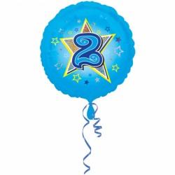 Balon foliowy 2 urodziny 2953301