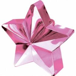 Ciężarek do balonów gwiazda różowa 117800-06