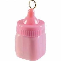Ciężarek do balonów butelka ze smoczkiem różowa 114539-109