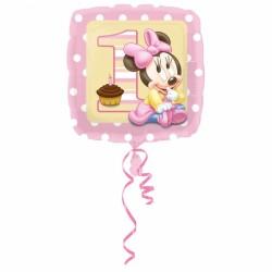 Balon foliowy Minnie 1 urodziny 2308901
