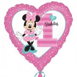 Balon foliowy Minnie 1 urodziny 3435001
