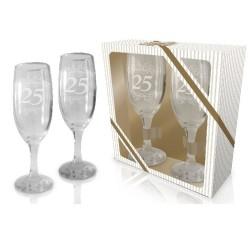 Zestaw kieliszków do szampana 25 rocznica