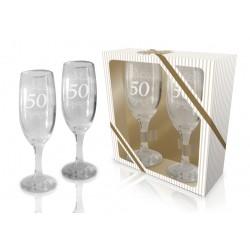 Zestaw 2 kieliszków do szampana 50 rocznica