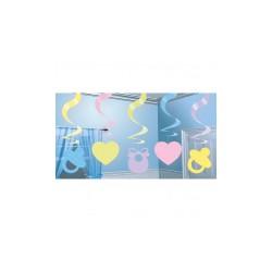 Dekoracja baby shower kolor  5 szt  60 cm