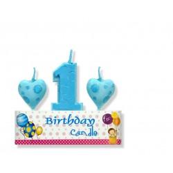 Zestaw urodzinowy świeczka
