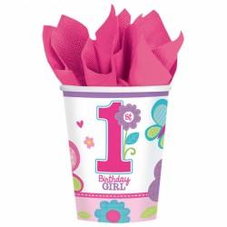 Kubeczki urodzinowe roczek birthday girl