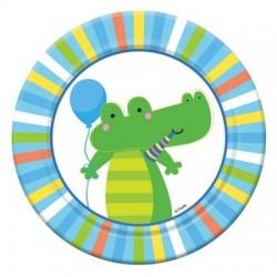 Talerzyki 18 cm Baby 6 szt krokodyl