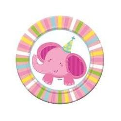 Talerzyki 18 cm Baby 6 szt słoń