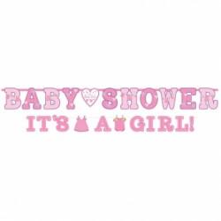 MEGA 2 szt Baner Baby Shower Dziewczynka