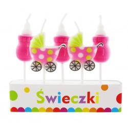 świeczki pikery PINK Baby
