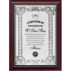 Certyfikat Nowożeńców W Dniu  Ślubu