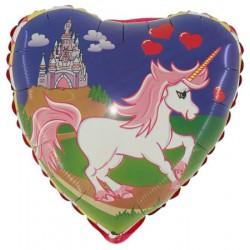 Balon 18'' jednorożec zamek Grabo