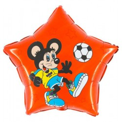 Balon 18'' Myszka z piłką Grabo