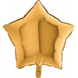 Balon 18'' Gwizdka Gold złota  19202G