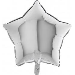Balon 1 szt 18'' Gwiazdka Silver