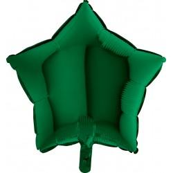 Balon 1 szt 18'' Gwiazdka Dark green Ciemny Zielony  19211DGr