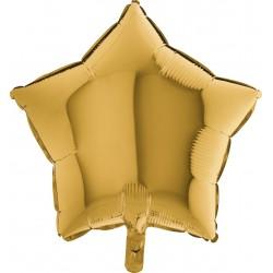 Balon 1 szt 18'' Gwiazdka Gold 5 Złoty 19212G5
