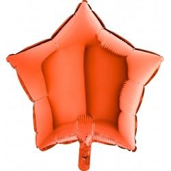 Balon 1 szt 18'' Gwiazdka Orange Pomarańcz 192150