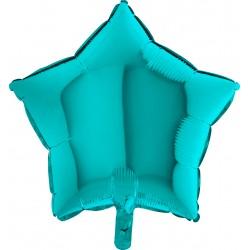 Balon 1 szt 18'' Gwiazdka  Tiffany  Mięta 19217Ti