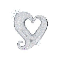 Chain of Hearts - Silver  Holographic INT 85126H-P