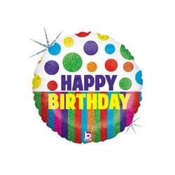 Happy Dots Birthday Stripes 18'' INT 36276H-P