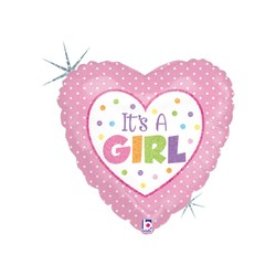 Baby Girl Dots 18'' INT 86899H-P