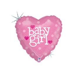 Baby Girl Heart 18'' INT 86602H-P