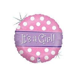 Polka Dot It's A Girl 18'' INT 86762H-P