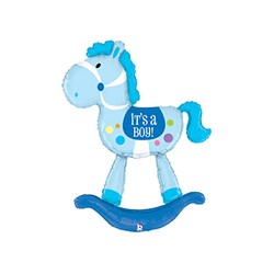 Special Delivery Rocking Horse Boy 60'' INT 35031-P