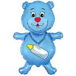 Miś z butelką Niebieski