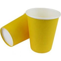 Kubeczki Papierowe Żółte 8 szt