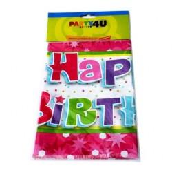 Obrus Happy Birthday Różowy